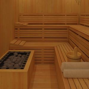 Sauna - wnętrze