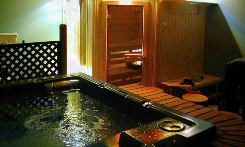 Sauna i minibasen z barkiem