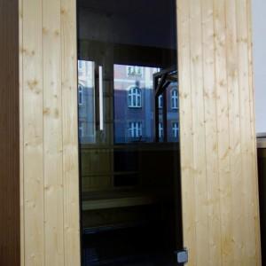 2os. kabina IR gotowa, świerk skandynawski, sterownik zewnętrzny Weka, drzwi grafitowe hartowane